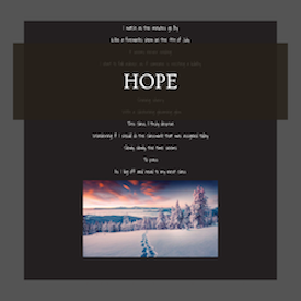 """hope"" gallery room web button"